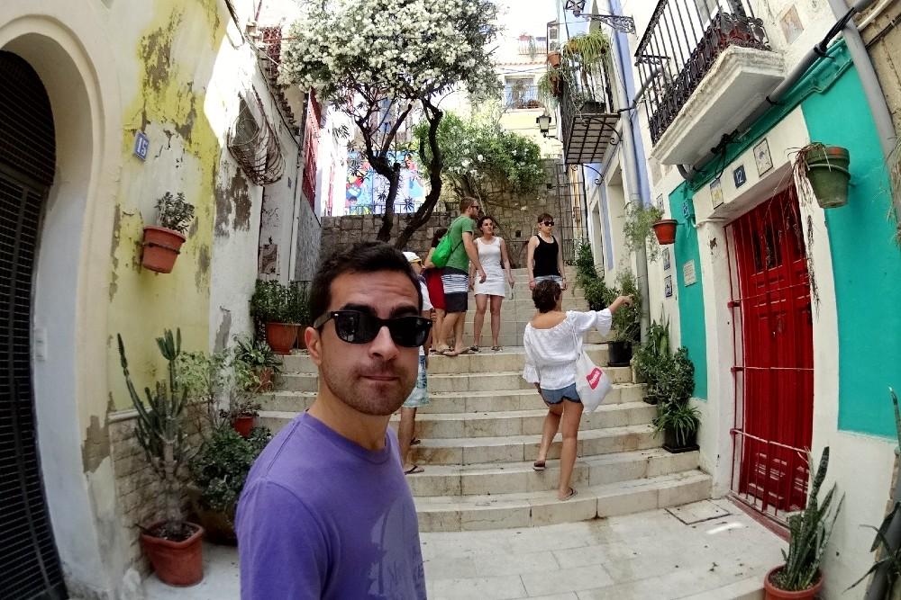 Scalinate nel Barrio de San Roque e nel Barrio de Santa Cruz ad Alicante in Spagna