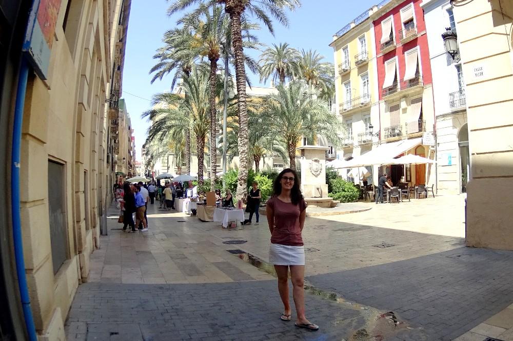 Piazza del Barrio di Alicante in Spagna