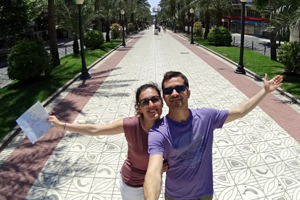 Avenida Federico Soto nel centro di Alicante in Spagna