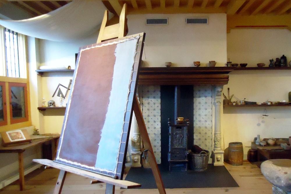 Casa di Rembrandt nella Parte Vecchia di Amsterdam in Olanda