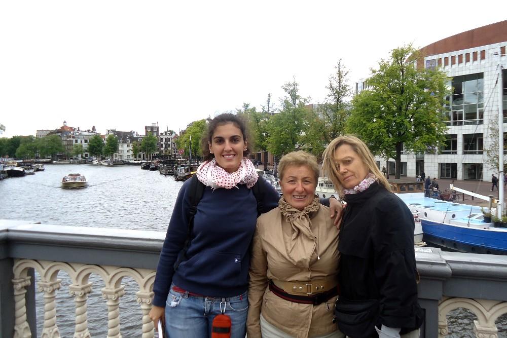 Ponte Blu (Blauwbrug) ad Amsterdam in Olanda