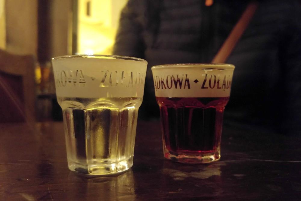 Dove bere vodka a Breslavia (Wroclaw): bicchierini di vodka di Przedwojenna