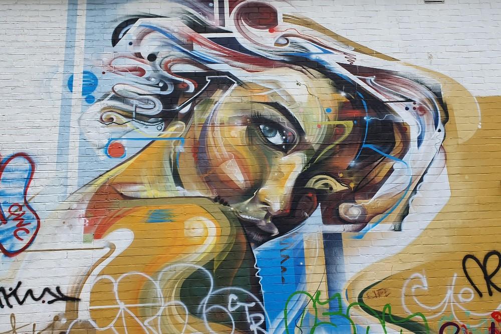 Street art a Brighton in Inghilterra: murales nel quartiere di New England Quarter