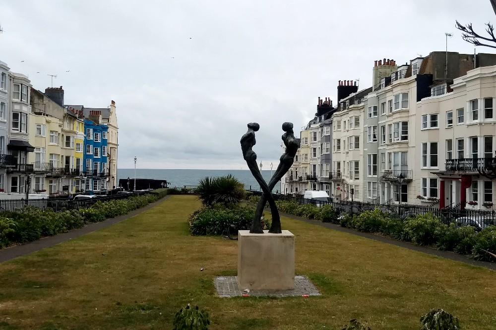 New Steine Gardens e AIDS Memorial nel quartiere di Kemptown a Brighton in Inghilterra