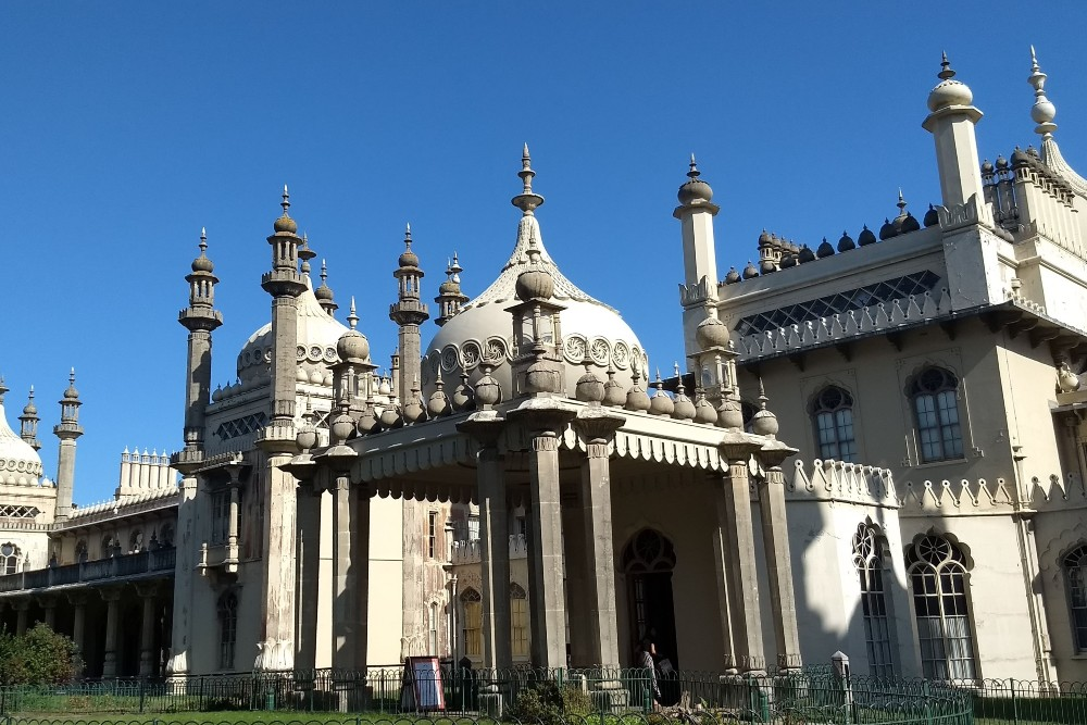 Ingresso del Royal Pavilion di  Brighton in Inghilterra