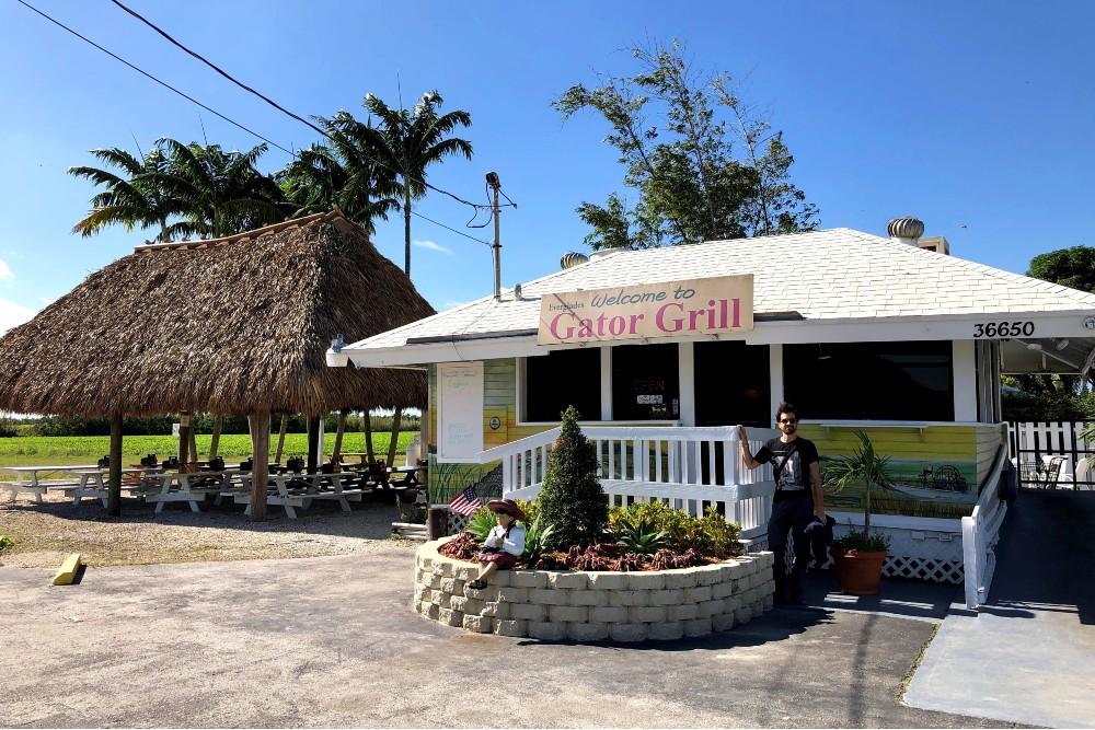 Chiosco del Gator Grill a Homestead in South Florida