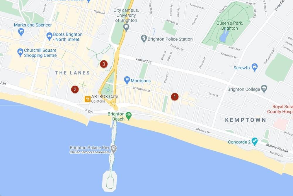 Itinerario del secondo giorno a Brighton nell'East Sussex in Inghilterra