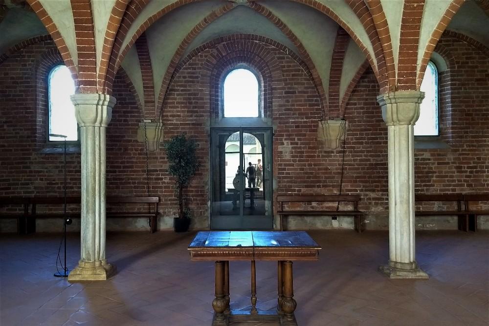 Sala Capitolare nell'Abbazia di Morimondo vicino a Milano, Lombardia
