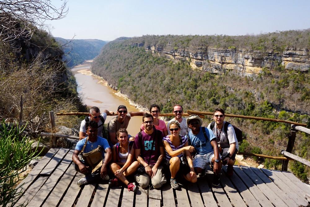Punto panoramico sulla Gola del fiume Manambolo vicino a Bekopaka in Madagascar