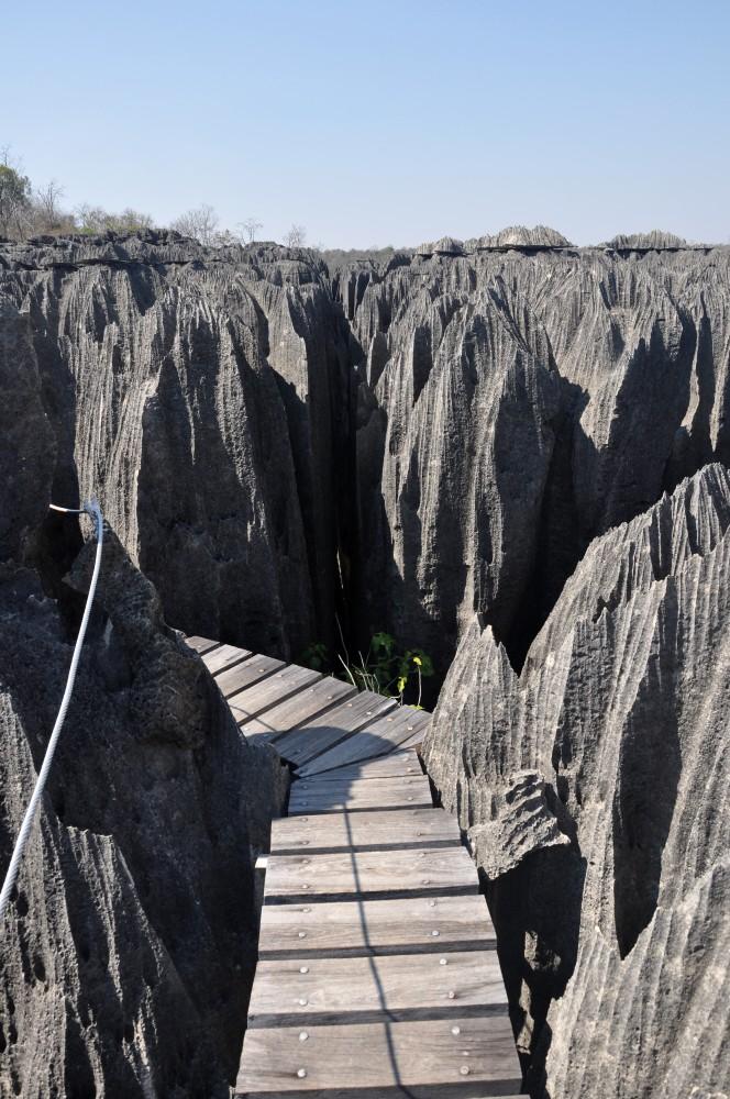 Passerella nel Petit Tsingy de Bemaraha in Madagascar