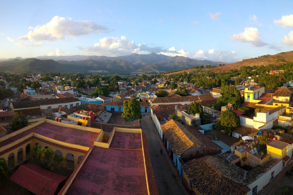 Viaggio a Cuba: tramonto dalla torre del Museo Nacional de la Lucha Contra Bandidos a Trinidad