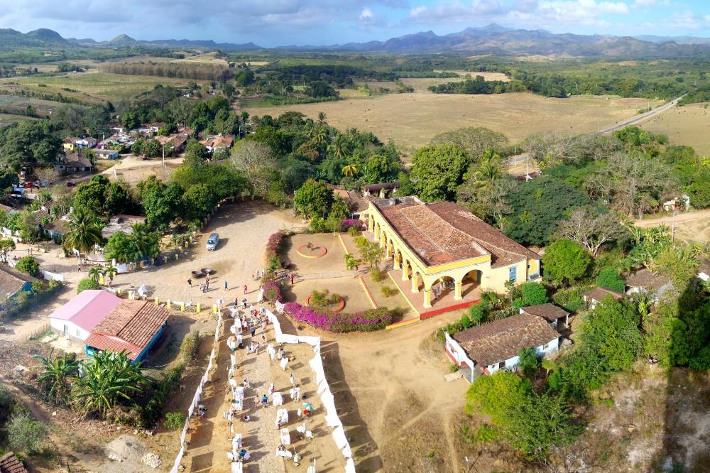 Veduta dalla torre Manaca Iznaga della Valle de Los Ingenios a Cuba