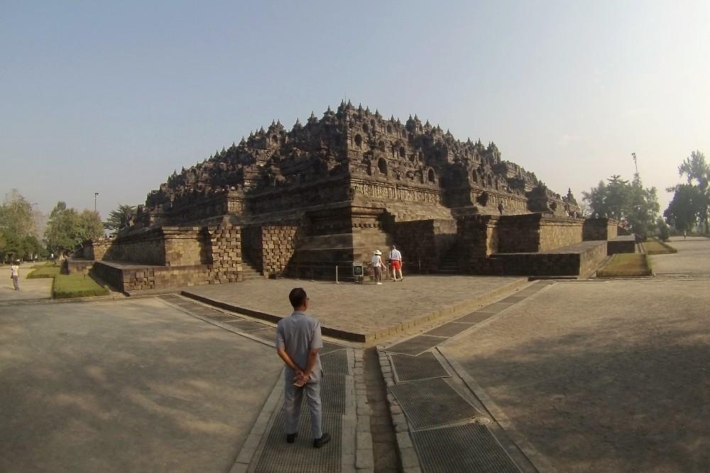 Panoramica del Tempio Borobudur in Indonesia