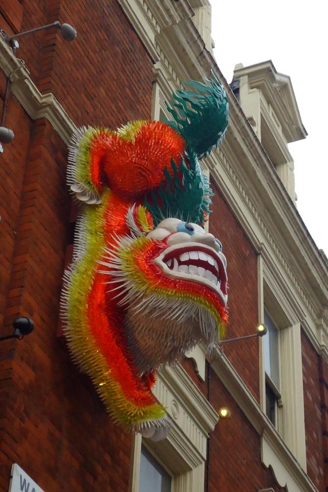 Decorazione cinese nelle strade di Chinatown a Londra