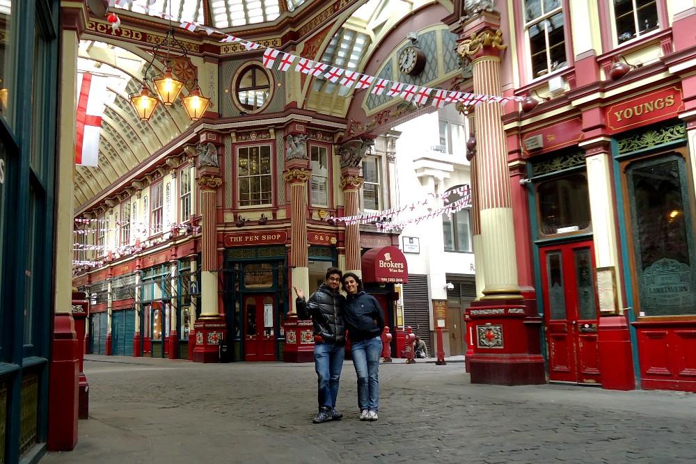 Leadenhall Market nella City a Londra