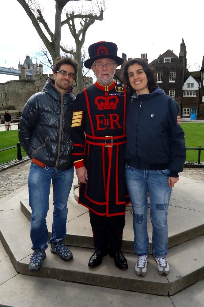 Yeoman Warder nella Tower of London a Londra
