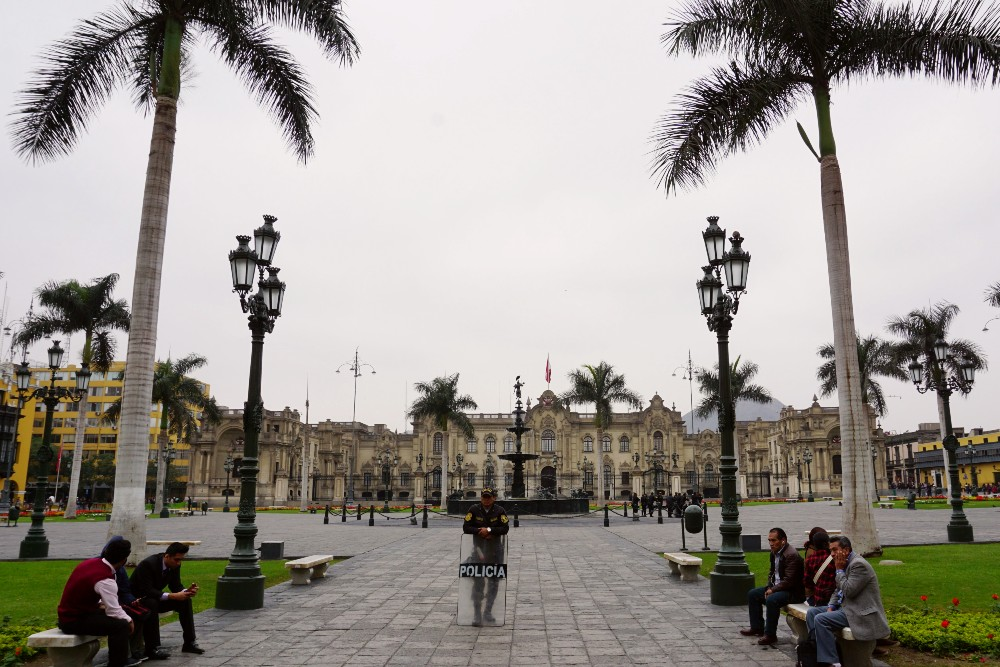 Plaza de Armas nel Centro Historico di Lima in Perù