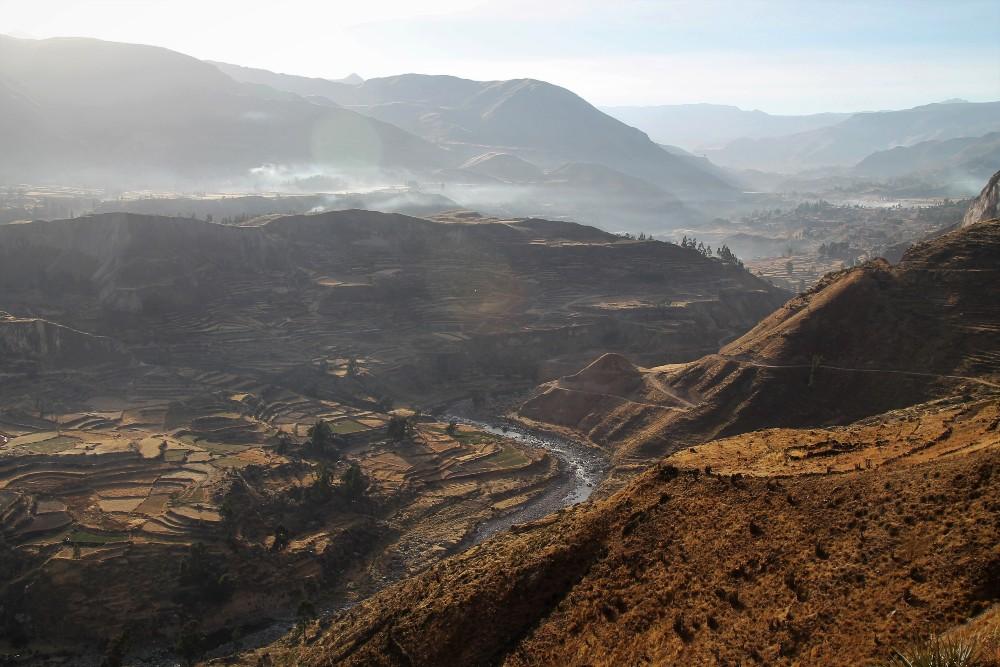 Viaggio in Perù: terrazzamenti nella Valle del Colca