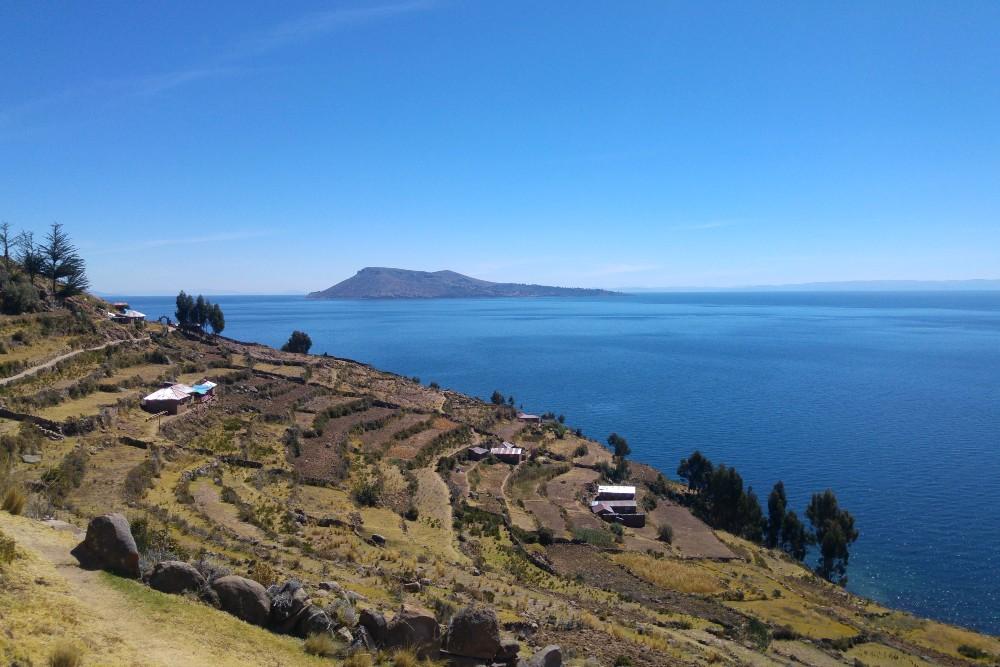 Isola Taquile sul Lago Titicaca in Perù