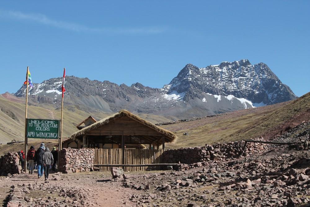 Punto di inizio del cammino per raggiungere Vinicunca tra le Ande del Perù