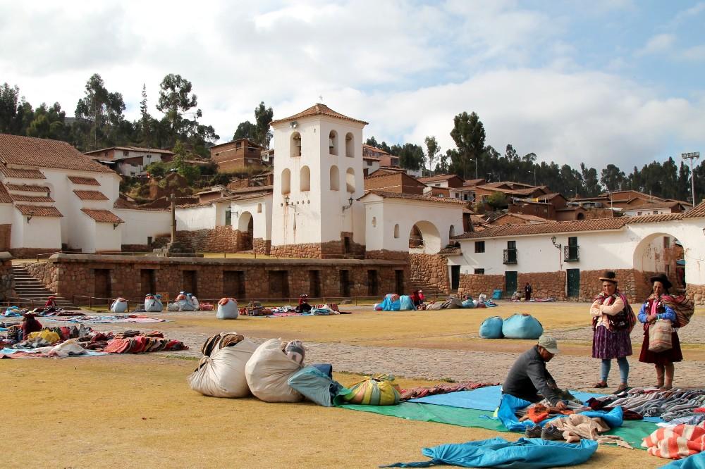 Villaggio di Chinchero nella Valle Sacra in Perù