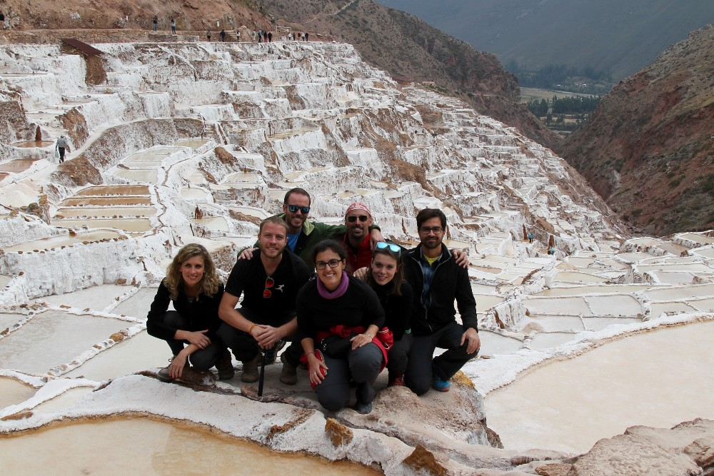 Saline vicino a Maras nella Valle Sacra in Perù