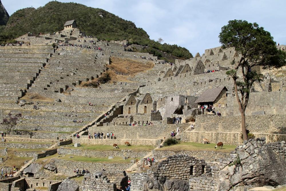 Le rovine della cittadella inca di Machu Picchu in Perù