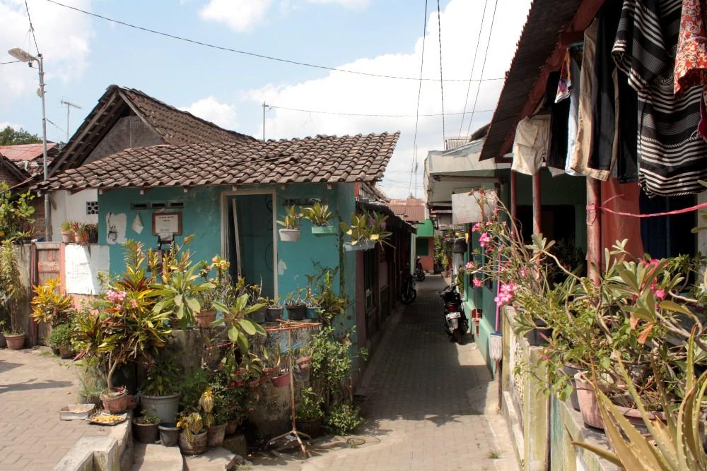Villaggio nei dintorni del Castello sull'Acqua (Taman Sari) a Yogyakarta