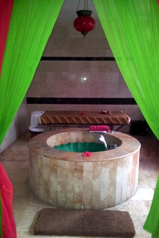 Area benessere nel Tugu Hotel Malang a Giava in Indonesia.